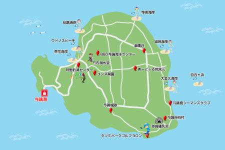 与論島観光スポットマップ