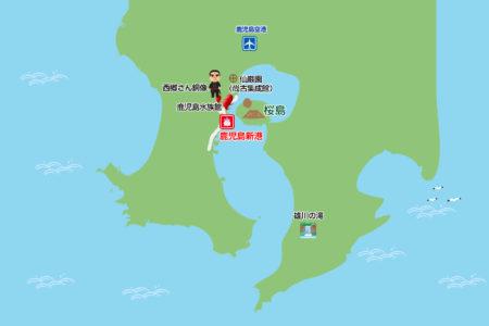 鹿児島観光スポットマップ