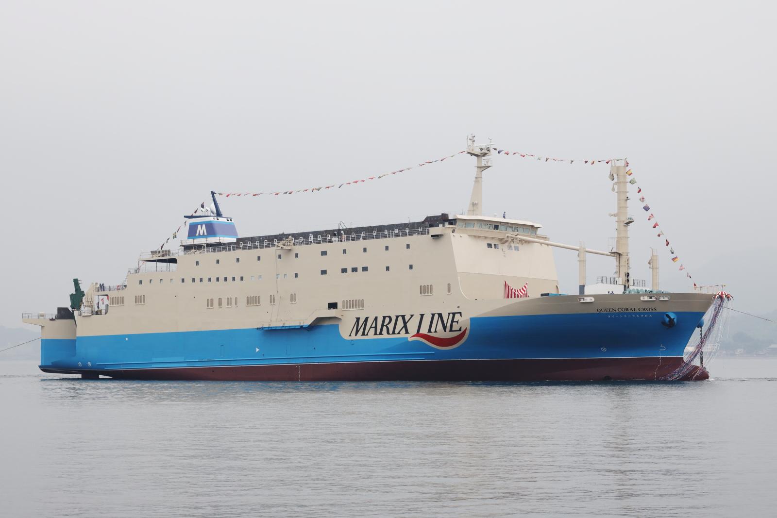 新造船「クイーンコーラルクロス」命名・進水式実施について